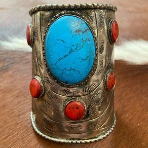 Jewelry - Southwestern Turquoise and Coral Bracelet